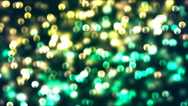 HD Loopable Background with nice glowing green bokeh Stock Footage