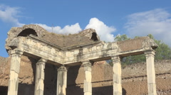 Hadrian's Villa, Tivoli, Italy, detail of doric pillars Stock Footage