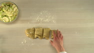 Manual dough cutting. Stock Footage