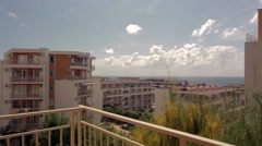 Sea view from the balcony of the hotel Stock Footage