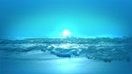 Sea of Blue Paint. Stock Footage