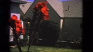 1963: garden alongside the house CALIFORNIA Stock Footage