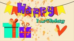 Happy birthday design, Video Animation Stock Footage