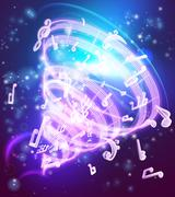 Abstract Magic Music Musical Notes Background Piirros