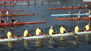 Kayakers in the competition team Stock Footage