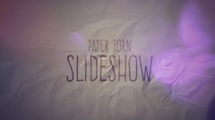 Paper Torn Slideshsow Stock After Effects