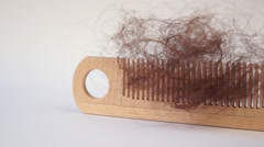 Bunch of hair on the comb Stock Footage
