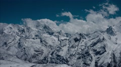 View at 5.000 metres altitude from the Tsergo Ri mountain. Nepal Stock Footage