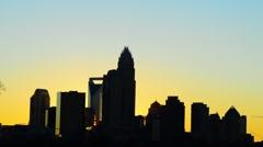 Early morning sunrise over charlotte north carolina Stock Footage