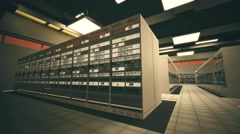4K Data Center Server Room 3D Animation 2 Stock Footage