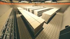4K Data Center Server Room 3D Animation 4 Stock Footage