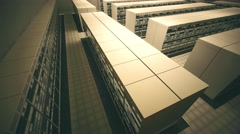 4K Data Center Server Room 3D Animation 6 Stock Footage