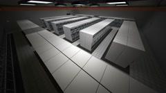 4K Data Center Server Room 3D Animation 7 Stock Footage