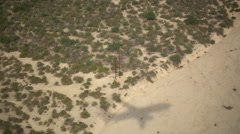 The shadow of an airplane landing. Stock Footage