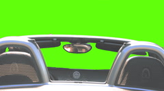 HD pre rendered green screen car shot. car go straight Stock Footage