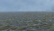 4K Flying over Murky Water Surface Aerial Cinematic 3D Animation Stock Footage