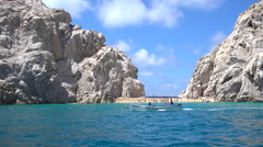 Boats in Cabo San Lucas, Mexico. Stock Footage