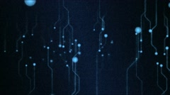 Abstract Technology Circuit Background Animation - Loop Blue Stock Footage