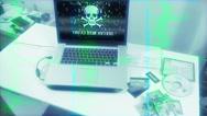 Hacker Cybercrime Scene On Security Cam Source Code Stock Footage