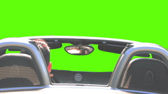 HD pre rendered green screen car shot, turning to the left Stock Footage