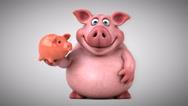 Fun pig - 3D Animation Stock Footage