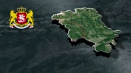 Mtskheta-Mtianeti with Coat Of Arms Animation Map Stock Footage