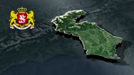 Samegrelo-Zemo Svaneti with Coat Of Arms Animation Map Stock Footage