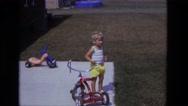 1975: toddler has to pee CALIFORNIA Stock Footage