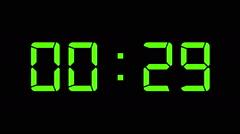 Digital Countdown timer Stock Footage