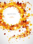 Abstract background with autumnal leaves Stock Illustration