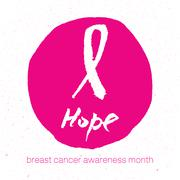 Breast cancer awareness pink ribbon background, vector illustration Piirros