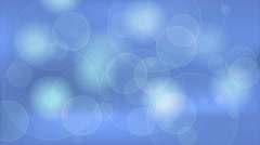 Abstract blue bokeh clean shiny video animation Stock Footage