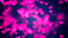 HD Loopable Background with nice pink hearts Stock Footage