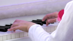 Piano Player / Piano Keyboard / Piano Hands Stock Footage
