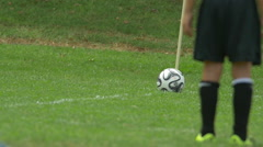 Boys playing youth soccer football. Stock Footage