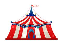 Circus marquee tent Stock Illustration