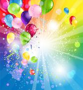 Holiday backgrund with balloons Stock Illustration