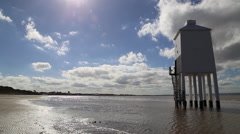 The Low Lighthouse, Burnham on Sea, Somerset, UK 3 Stock Footage