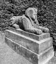 Sphinx sculpture at Bidulph Grange, Cheshire, UK Stock Photos