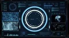 HUD Command control center Stock Footage