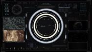Futuristic radar system control Stock Footage
