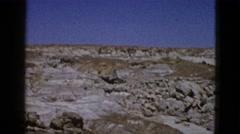 1953: white stone rocks grassy dry landscape BOSTON Stock Footage