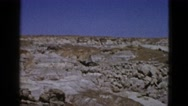 1953: white stone rocks grassy dry landscape BOSTON Stock Footage