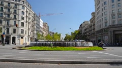 Fountain on the Rambla - Barcelona Stock Footage
