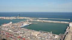 Barcelona port - Spain Stock Footage