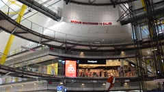 Interior shopping center Arenas - Barcelona  - Spain Stock Footage