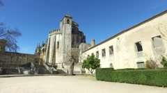 Templar christ convent - Tomar, Portugal Stock Footage