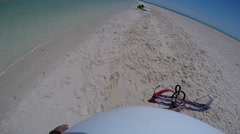 POV of a man getting ready to go kite surfing in the Red Sea, Egypt. Stock Footage
