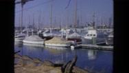 1962: shipyard at the seashore SAN PEDRO, CALIFORNIA Stock Footage
