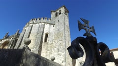 Templar Christ convent - Tomar, Portugal Stock Footage